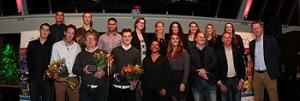 Prijswinnaars tijdens de Stars Awards in Hoofddorp.